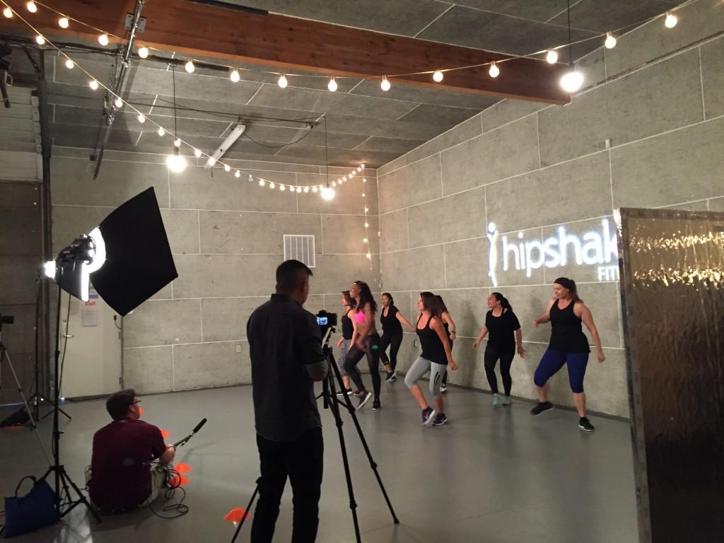 Quiet on set. Crew & dancers for Flirty Hip Hop Dance