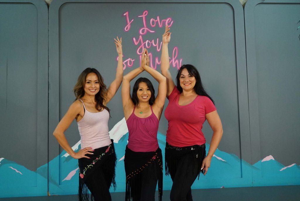 The beautiful ladies of Belly Dance Trance- Ana, Jacqui, Marta