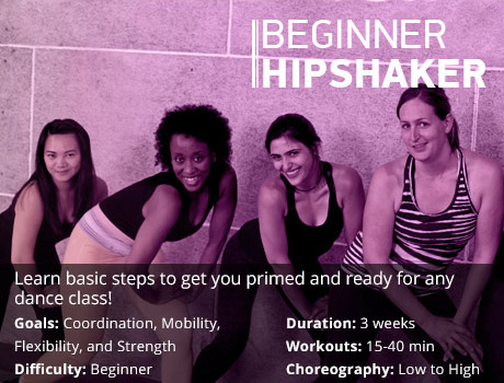 beginner dance workout program graphic