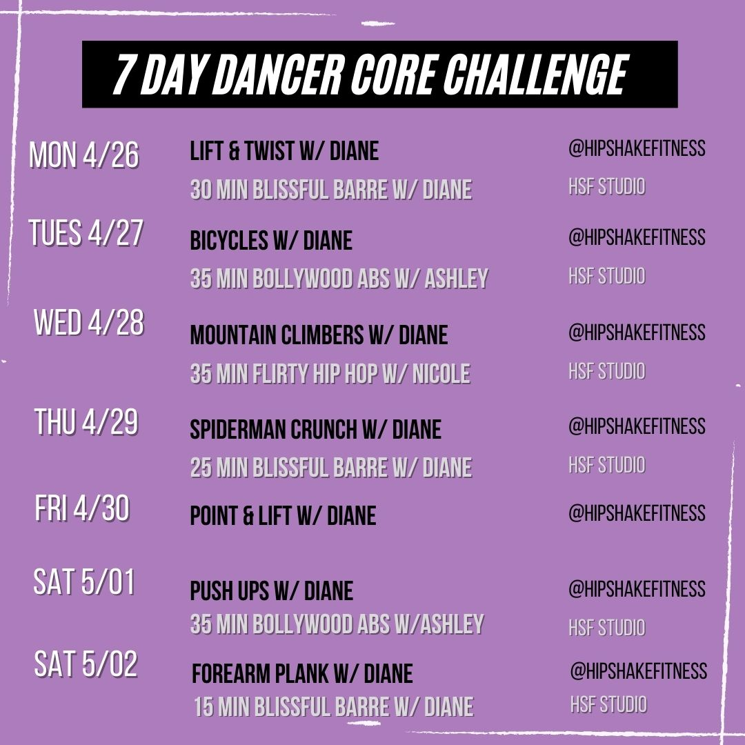 core focused barre workout sched